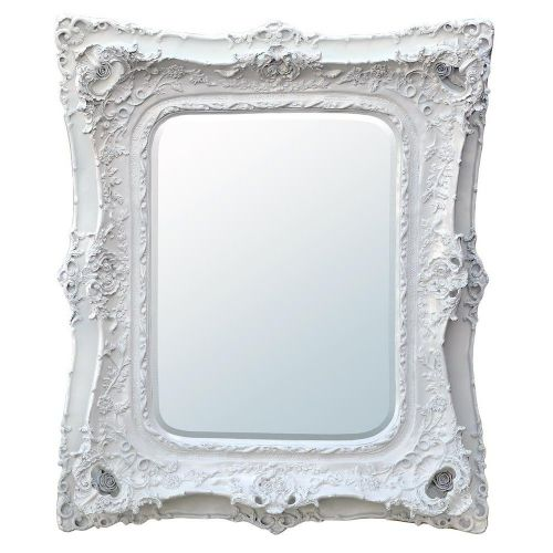 Rosetti Baroque Antique White Double Framed Mirror / W102 x H120cm